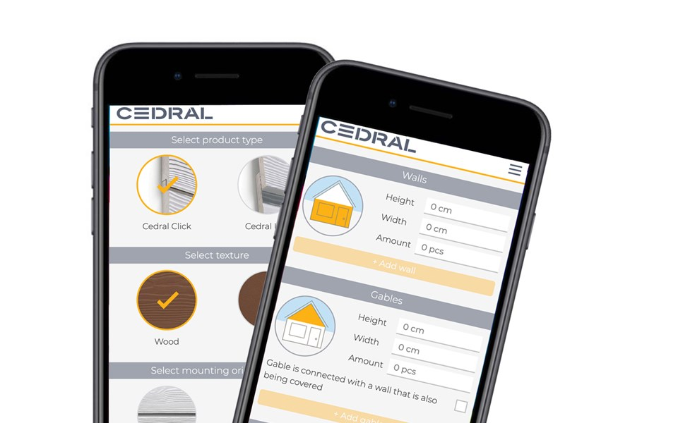 Cedral Calculator for your facade cladding