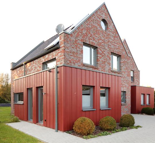 combining materials on a façade