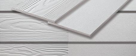 Framsida paneler i fibercement för husfasad med varvinstallation